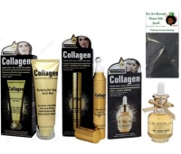 Lilhe Collagen Face Wash Face Serum Eye Serum by Wokali with a Bonnet