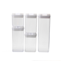 TRENDZ 5 piece Airtight Food ContainerCanister Set