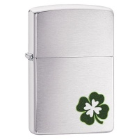 Zippo Lighter 200 Four Leaf Clover Design