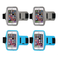Armband Smartphone Case for Sports Universal Fit 4 Pack Grey Blue
