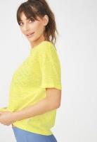 Womens Cotton On Boxy burnout T shirt Sunflower Yellow