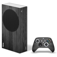 SkinNit Decal Skin For Xbox Series S Black Wood