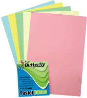 Butterfly Mixed A4 Pastel Board Pack Of 10