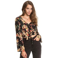 Roxy Winter Garden Dobby Ladies Top Anthracite Wonder Garden
