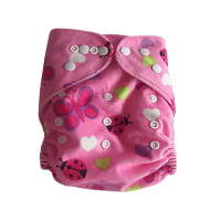 Adjustable Baby Reusable Cloth Diaper Nappies Pink Butterfly