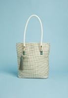 Womens Superbalist Woven Shopper Bag With Tassel GreenBlackWhite
