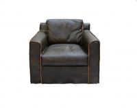 Spitfire Furniture Warhawk Armchair – Brazilian leather with Exposed Seam