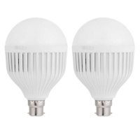 Smart Charge Lamp Cool White 6500k Emergency Lamp 15W E27 Pack of 2