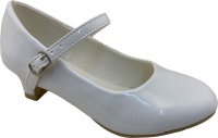 Kids White Mary Jane Party Shoe