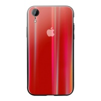iTech Parts Iridescent iPhone XR Protective Case Red