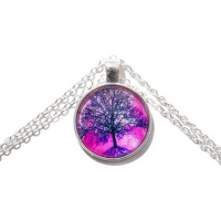 Tree of Life Pink Necklace
