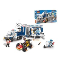 COGO City Police Truck and Cart 401 Pieces Building Blocks
