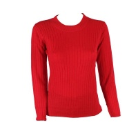 Blackcherry Red Skinny Crewneck Pullover