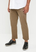 Mens Superbalist Wide Cropped Chino Taupe