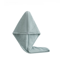 Hair Towel Absorbent Dry Cap Cyan