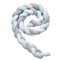 Braid Crib Bumper Knotted Bumper Breathable Pillow Cradle Bedding Decors