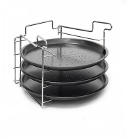 3 Piece Stackable Pizza Pan Stand
