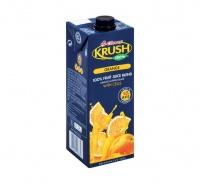 Clover Krush Krush 100 Fruit Juice UHT Orange 6x1L