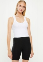 Womens Cotton On Rib Racer Back Tank White