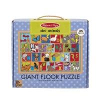Melissa Doug Melissa Doug Natural Play Floor Puzzle ABC Animals