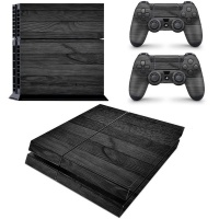 SkinNit Decal Skin For PS4 Black Wood