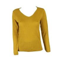 Blackcherry Mustard Skinny V neck Pullover