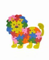 Lion Puzzle Abc Wooden Educational Puzzel