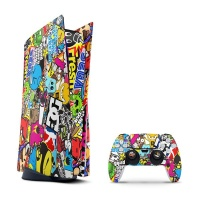SkinNit Decal Skin For PS5 Sticker Bomb