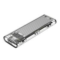 Orico M2 NVME GEN2 USB31 Type C Transparent M Key SSD Enclosure Silver