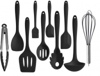 Silicone Heat Resistant Non Stick Kitchen Utensils Cooking Tools 10 Pieces