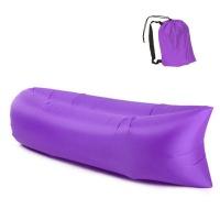Inflatable Beach Lounger Portable Sofa Purple