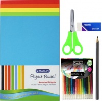 Project Board Beginner Pack Bright assorted 160GSM 100s