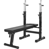 GORILLA SPORTS SA Gorilla Weight Bench with Adjustable Barbell Rack