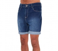 I Saw it First Mens Mid Wash Mens Denim Short