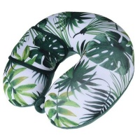 Bags Direct Eco Neck Pillow And Eye Mask With Leaf Design