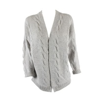 Blackcherry Grey Pattern Cardigan