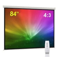 Electric 84 Projector Screen with Remote