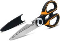 Hubbe Heavy Duty Kitchen Scissors Black Orange