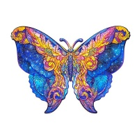 Puzzle Wooden Bright Butterfly