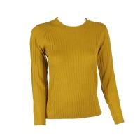 Blackcherry Mustard Skinny Crewneck Pullover