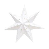Nordic Scandinavian Home Decoration Hanging White Paper Star