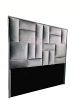 Decorist Home Gallery Modern De Papella Grey Headboard Super King Size