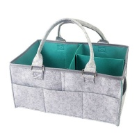 Baby Diaper Caddy Storage Organizer Carrier Bag GreyBlue Green