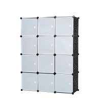 Gretmol Stackable Storage Cubes BlackWhite