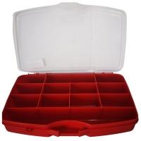 Port Bag Toolbox Red 12 Compartments