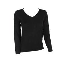 Blackcherry Black Skinny V neck Pullover