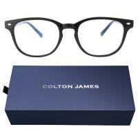 Colton James Lightweight TR90 Blue Light Blocking Glasses Miami Black