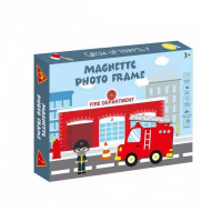 30 Pieces Of Fire Department Magnetic Photo Frame Puzzle Toy