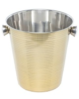 George Mason George Mason Stainless Steel Gold Stripe Champagne Cooler