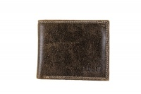 Bossi Distressed Leather Small Billfold Brown